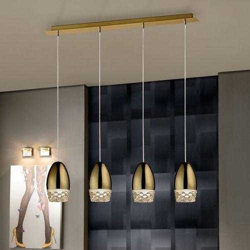 Schuller Alessa 553486 Bar Ceiling Pendant 4 Light Gold