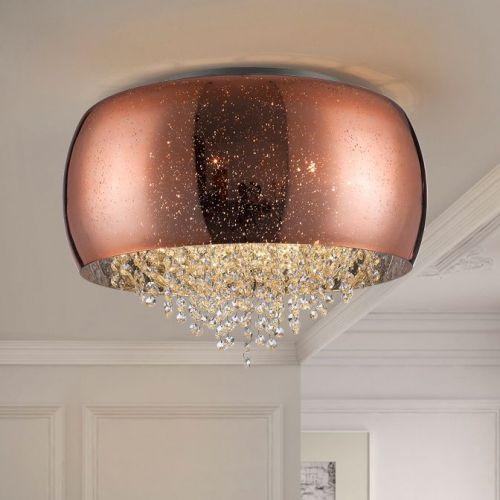 Schuller Caelum 618320 Ceiling Flush 6 Light Fitting Copper