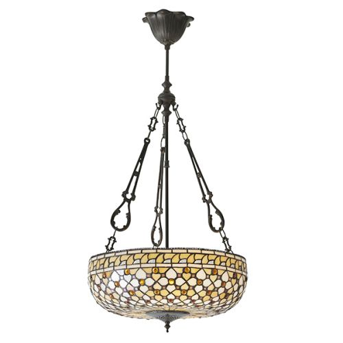 Interiors 1900 Mille Feux 64277 Tiffany 3 Light Large Pendant