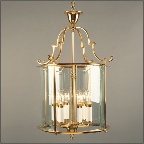 Impex LG07000/15/PB Colchester 6 Light Polished Brass Indoor Lantern