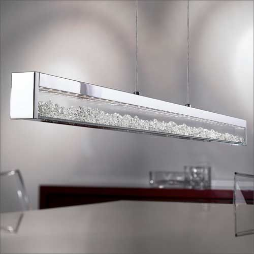 Eglo Cardito Chrome And Crystal LED Ceiling Pendant 90929