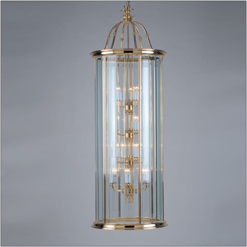 Impex LG07949/A/18 Surrey 18 Light Brass Indoor Lantern