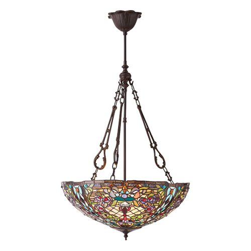 Interiors 1900 Anderson 70744 Tiffany 3 Light Inverted Pendant
