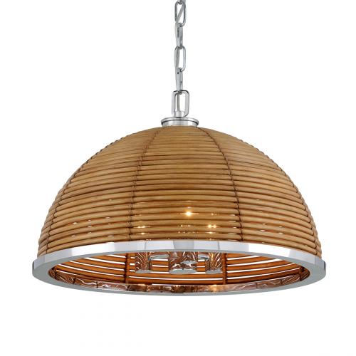 Corbett Carayes Ceiling Medium Pendant 3 x E14 Rattan / Steel 277-43-CE