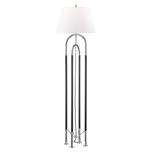 Hudson Valley Arnett Floor Lamp with Shade 1 x E27 Polished Nickel L1134-PN-CE