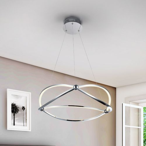 Schuller Ocellis 757218 LED Small Ceiling Pendant Chrome