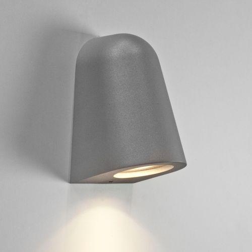 Astro Mast 131707  Single Outdoor Wall Spotlight Textured Silver