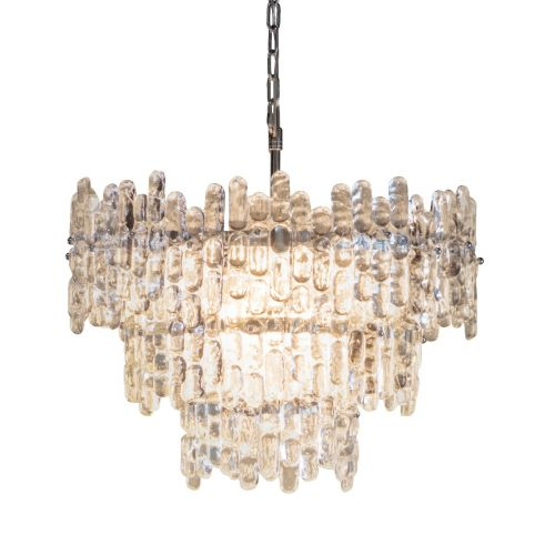Endon Maya 76435 Crystal 9 Light Pendant Chrome Frame