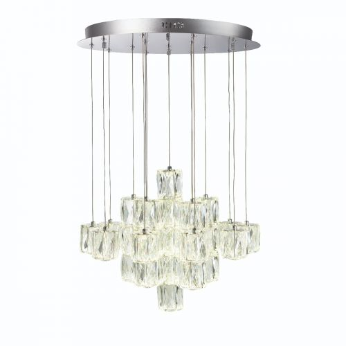 Endon Prisma 76489 LED 30 Light Pendant Polished Chrome Frame