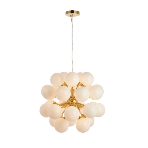 Endon Oscar 76499 Cluster 28 Light Pendant Brushed Brass Frame