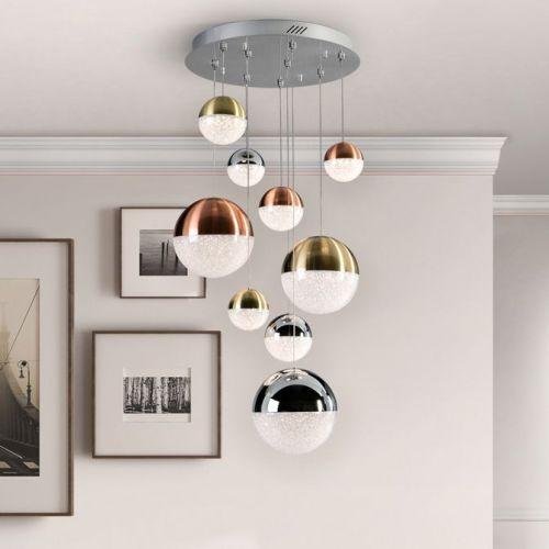 Schuller Sphere 793091 LED 9 Light Ceiling Pendant Polished Multicoloured