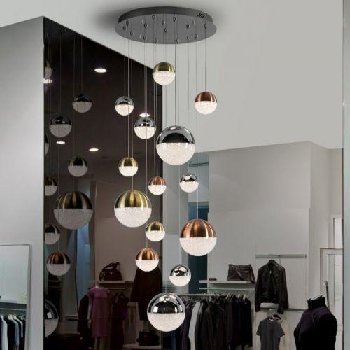 Schuller Sphere 793258 LED Ceiling Pendant 14 Light Chrome