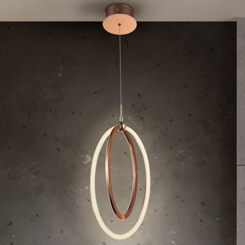 Schuller Ocellis 814263 LED Single Pendant Copper