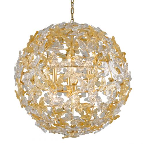 Corbett Milan Ceiling Large Pendant 8 x E14 Gold Leaf 279-48-CE