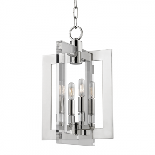 Hudson Valley Wellington Ceiling Pendant 4 x E14 Polished Nickel 9312-PN-CE