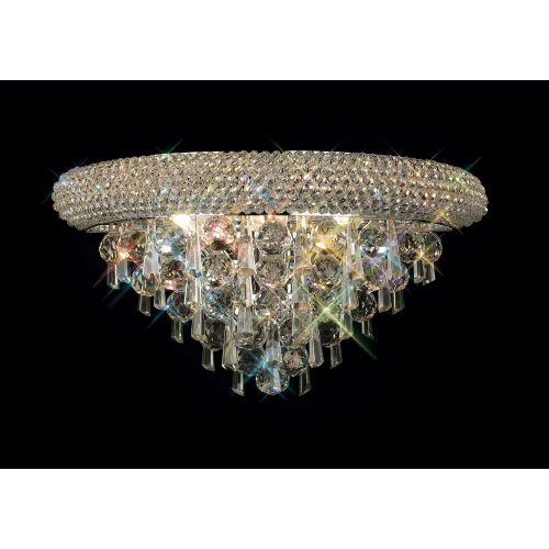 Diyas IL31441 Alexandra Crystal Triple Wall Lamp Polished Chrome Frame