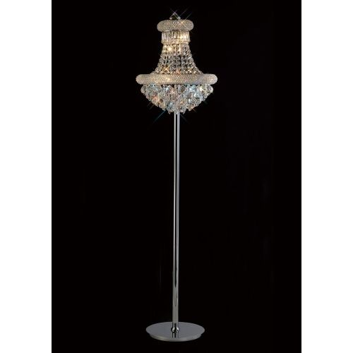 Diyas IL31444 Alexandra Crystal 6 Light Floor Lamp Polished Chrome Frame