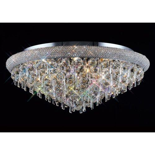 Diyas IL31448 Alexandra Crystal 16 Light Flush Ceiling Fitting Polished Chrome Frame