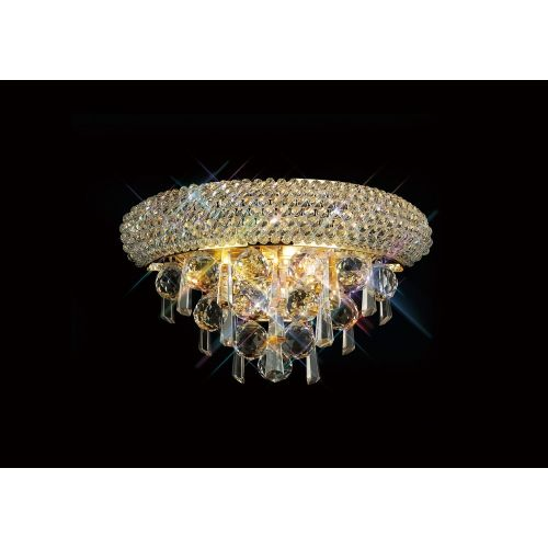 Diyas IL32100 Alexandra Crystal Small Double Wall Light French Gold Frame