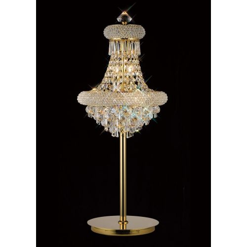 Diyas IL32103 Alexandra Crystal 5 Light Table Lamp French Gold Frame