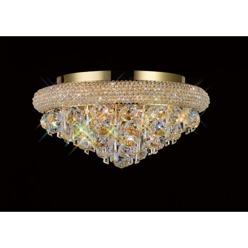 Diyas IL32105 Alexandra Crystal 6 Light Flush Ceiling Fitting French Gold Frame