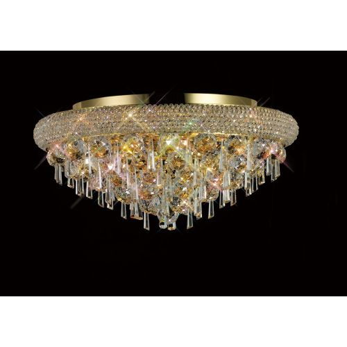 Diyas IL32106 Alexandra Crystal 7 Light Flush Ceiling Fitting French Gold Frame