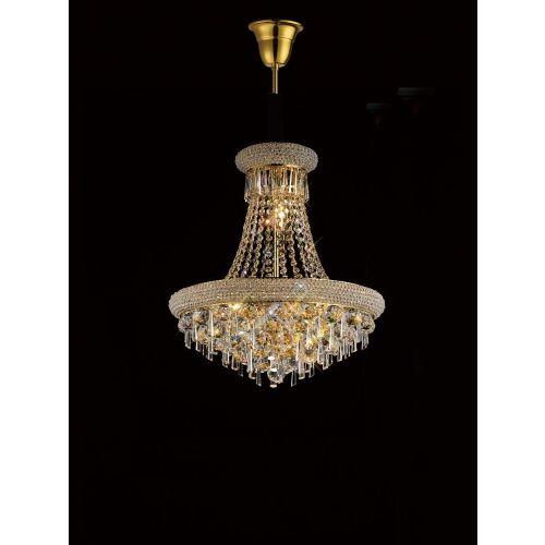 Diyas IL32110 Alexandra Crystal 9 Light Pendant French Gold Frame