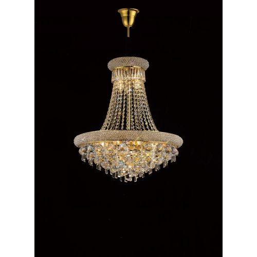 Diyas IL32111 Alexandra Crystal 13 Light Pendant French Gold Frame