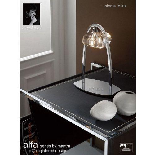 Mantra Alfa Table Lamp 1 Light Polished Chrome M0425
