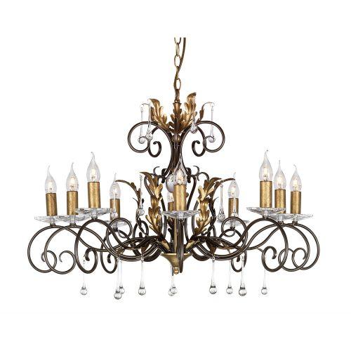 Elstead Amarilli 10lt Chandelier Bronze/Gold ELS/AML10 BRONZE
