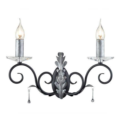 Elstead Amarilli 2 Light Black/Silver Wall Fitting ELS/AML2 BLK/SILVER