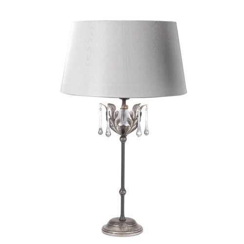 Elstead AML/TL BLK/SIL Amarilli 1Lt Black/Silver Table Lamp