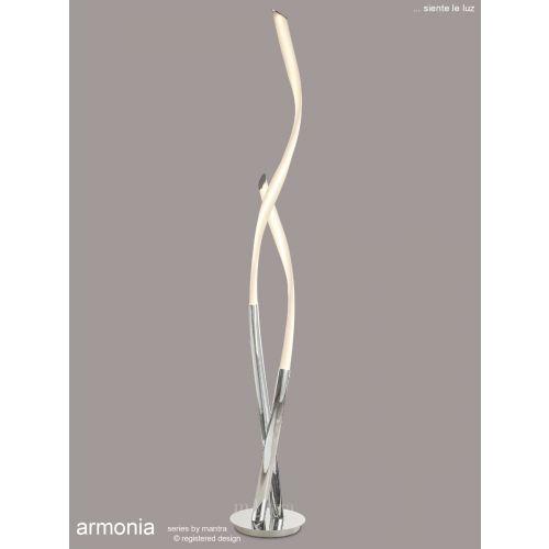 Mantra Armonia Floor Lamp 30W LED 3000K 2250lm White Chrome M6730