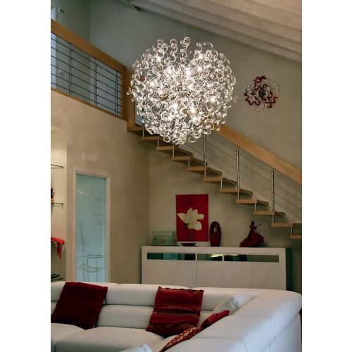 Metal Lux Astro 18 Light Clear Glass Pendant 206.190.01