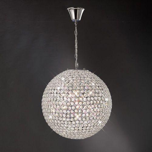 Diyas IL30201 Ava Pendant 7 Light Polished Chrome Crystal