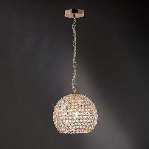 Diyas IL30751 Ava Pendant 4 Light French Gold Crystal