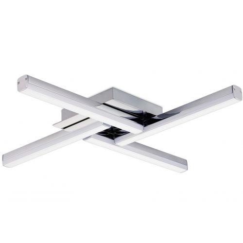 Lekki Kros Bathroom 4 Light Ceiling Fitting 24W LED 4000K 2210lm IP44 Chrome LEK3025