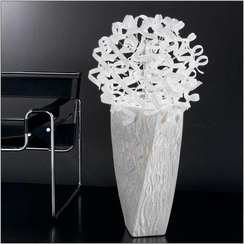 Metal Lux Astro 9 Light White Glass Floor Lamp 206.270.02