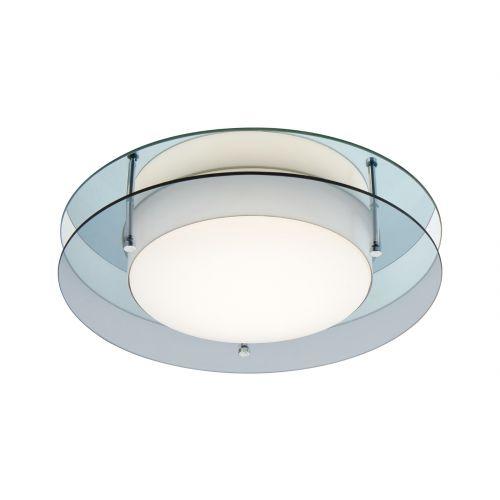 Lekki Bellamy Ceiling Fitting 18W LED 3000K 1620lm IP44 Smoked Mirror LEK3031