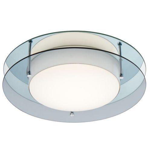 Lekki Bellamy Bathroom Ceiling Fitting 18W LED 3000K 1620lm IP44 Smoked Mirror LEK3031