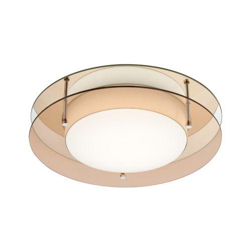 Lekki Bellamy Ceiling Fitting 18W LED 3000K 1620lm IP44 Amber Mirror LEK3032