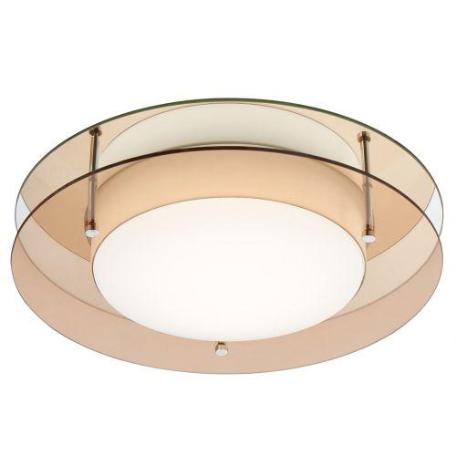 Lekki Bellamy Bathroom Ceiling Fitting 18W LED 3000K 1620lm IP44 Amber Mirror LEK3032