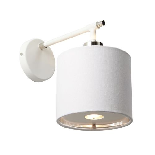 Elstead Balance Wall Light White/Polished Nickel ELS/BALANCE1 WPN