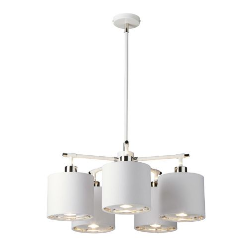 Elstead BALANCE5 WPN Balance 5Lt White and Polished Nickel Ceiling Pendant