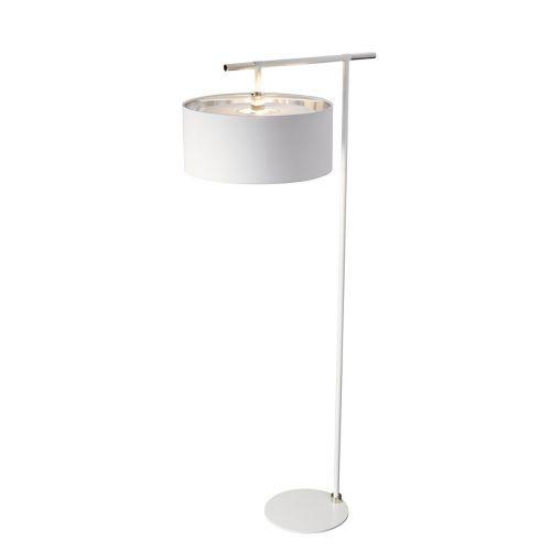 Elstead Balance Floor Lamp White/Polished Nickel ELS/BALANCE/FL WPN