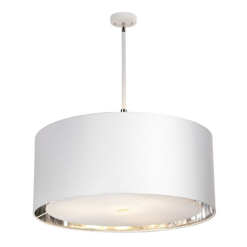 Elstead BALANCE/PXL WPN Balance 4Lt White Polished Nickel Large Ceiling Pendant