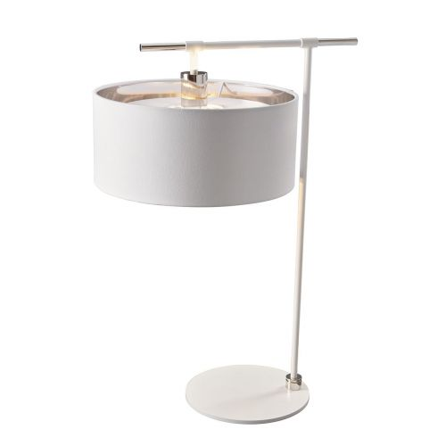 Elstead Balance Table Lamp White/Polished Nickel ELS/BALANCE/TL WPN