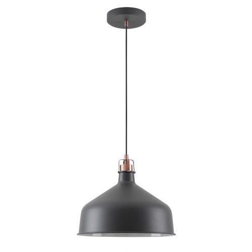 Lekki Blake Medium Pendant Light Fitting 1 x E27 Sand Black Copper White LEK3047