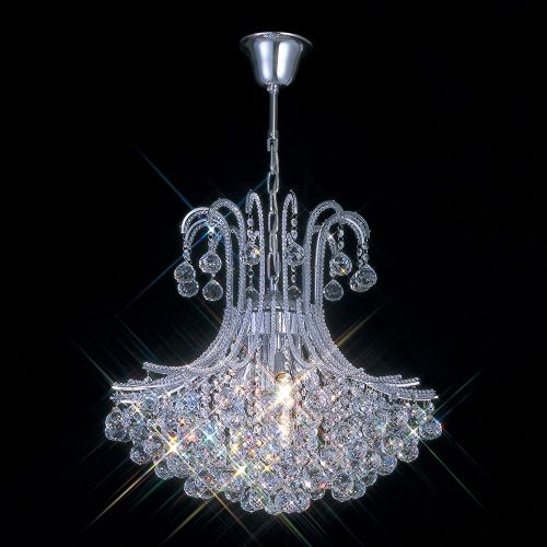 Diyas IL30017 Bask Crystal 6 Light Pendant Polished Chrome Frame