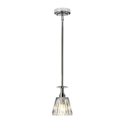 Elstead Agatha 1Lt LED IP44 Bathroom Pendant Light Polished Chrome BATH/AGATHA1P PC